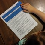 Longer Reading Focus Card (Model #002) can also be used w/ worksheets & documents.